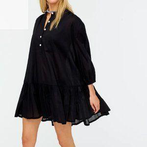 J.Crew $90 Swingy Cover-Up Dress Black Size 3X